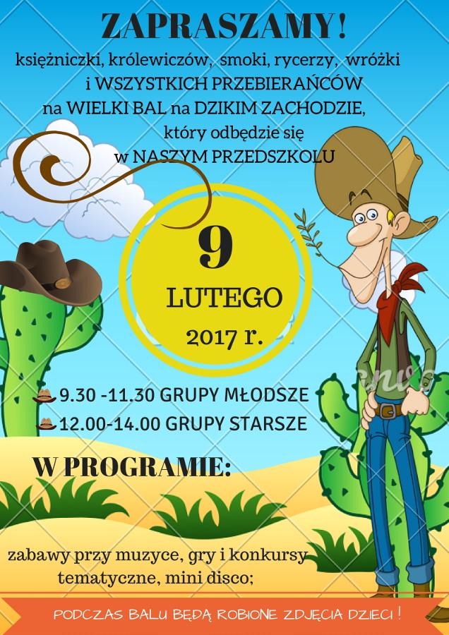 Zaproszenie Na Bal Przedszkole Miejskie Nr 7 W Lublińcu